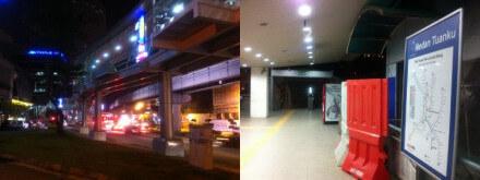 クアラルンプールのMedan tuank駅