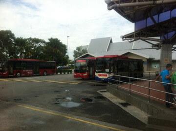 マラッカのバスターミナル