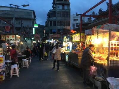 台北の士林夜市
