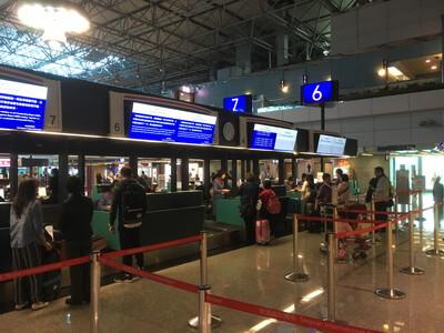 台湾の台北桃園空港