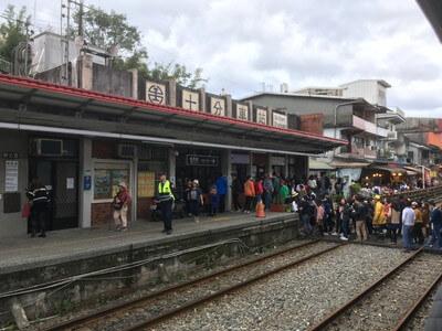 台湾の十分駅