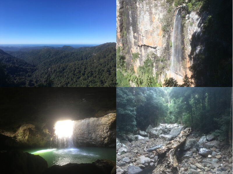 スプリングブルック国立公園で滝観光&土ボタル鑑賞