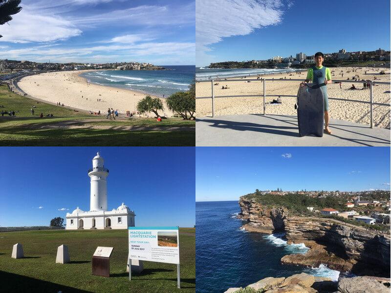 シドニーのビーチとギャップブラフ観光