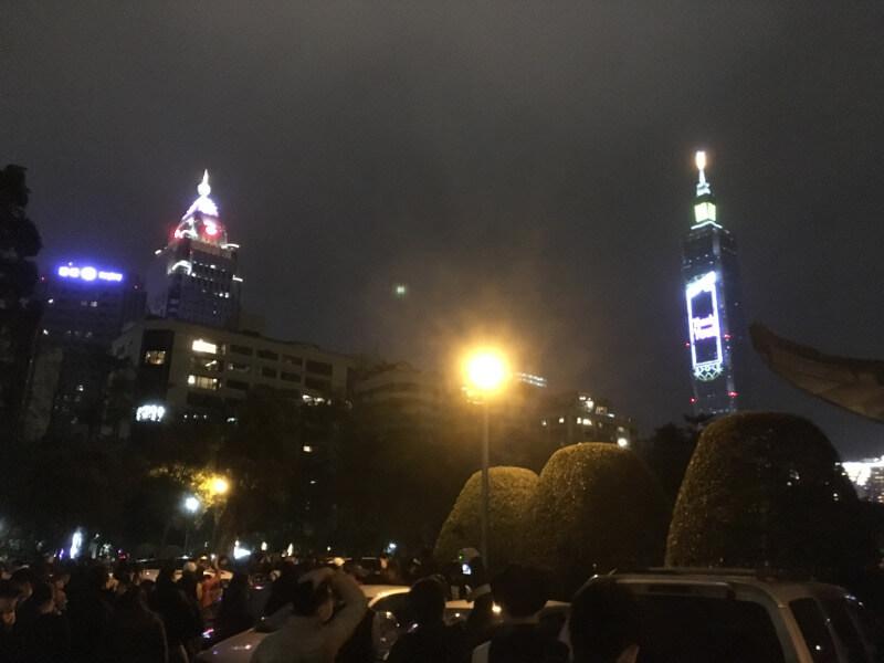 台北101のカウントダウン花火大会