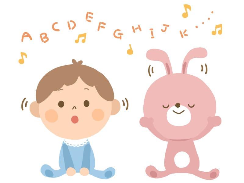 赤ちゃんの英語の聞き流し効果
