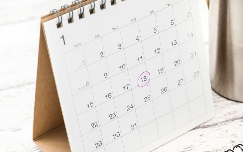英語の日付・年月日の書き方と読み方