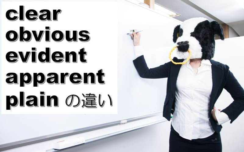 clear・obvious・evident・apparentの違い!