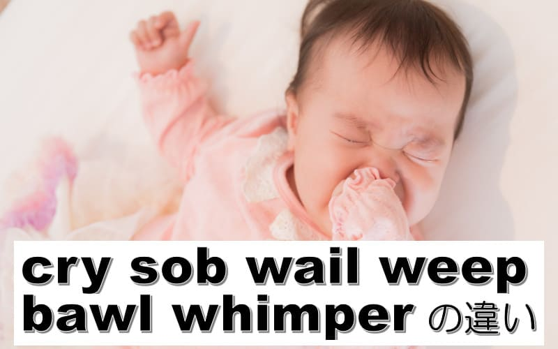 cry・sob・wail・weep・bawl・whimperの違い