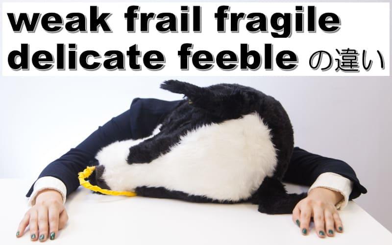 weak・frail・fragile・delicate・feebleの違い