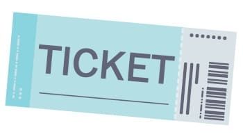 get a ticket「チケットを入手する」